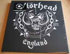 motorhead england logo stretch canvas wall art 40cm x 40cm official  new