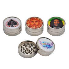 1 X 2 Parts 40MM Plastic Tobacco Grinder Zinc Metal Teeth Crusher.Pattern Random