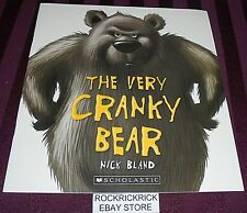 THE VERY CRANKY BEAR -NICK BLAND- (2014) -LARGE BOOK- -BRAND NEW-