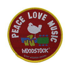Woodstock Woven Patch - Peace Love Music Sew on 082
