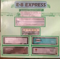 EMD E-9/9A w/ asstd cars L-4082 Lehigh Valley #510Bev-Bel/Life-Like N Scale Set