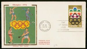 Mayfairstamps Canada FDC 1973 Olympic Sports Colorano Silk Sports wwk_36891
