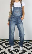 Denim Dungarees XS UK 8 Fitted,  6 XXS Oversized Wide Straight Leg (6I4L)