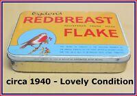OGDEN'S Redbreast Flake ✅ 1LB Tobacco Tin ✅ C 1940 ✅ Centre Piece Display Tin ✅