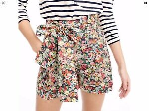 J. Crew Liberty Fabric Wildflower Floral Shorts NWT Sz 8