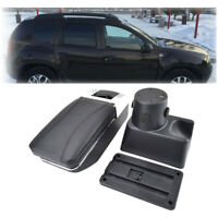 Rotatable Armrest Storage Box For Dacia Duster 2010-2015 Black Centre Console