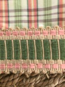 Custom designer fabric/trim King Bedskirt