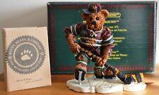 Boyds Bears Collection Figurine ~ Puck. Slapshot Hockey ~ #228305 Mib