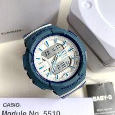 Casio Baby-G * BGA240-2A2 Runner Anadigi White & Blue Watch for Women