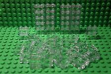 LEGO 50 x CLEAR BRICKS 1x2 TRANSLUCENT GLASS -WALL PANEL-WINDOW- No 3065 (3004)