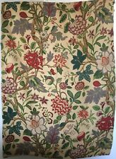 Beautiful Rare 1930's French Linen Exotic Fantasy Floral Fabric  (2932)