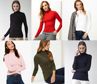 M&S Marks Spencer LADIES Women Roll TURTLE Neck Long Sleeve T Shirt Blouse Top