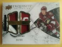 Max Domi Rookie 2015 UD Exquisite Collection Quad Jersey  /99 Arizona