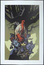 Poster Mignola Hellboy Nb. & signed