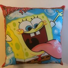 NEW SPONGEBOB SQUARE PANTS BUBBLE TIME COMPLETE LICENSED THROW PILLOW  FREE SHIP