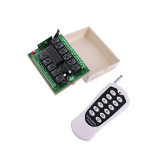 12V 12CH Channel Wireless Remote Control Radio Relay Switch Transceiver Receiver