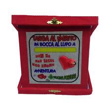 NUOVA ATTIVITA' targa al merito personalizzabile in bocca al lupo rossa 14x14 cm