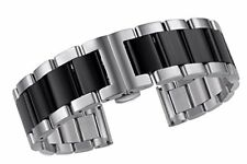 High-End 22 mm recta final enlace de Metal Reloj Correa Acero Inoxidable 316 L sólidos Jika Anda
