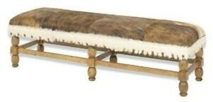NEW BENCH BENCH REPRODUCTION REPRODUCTION WOOD LEATHER WOOD LEATHER NO NAI