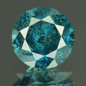 0,21 ct. DIAMANT Natural Zertifiziert Rund Blau Süd Afrika