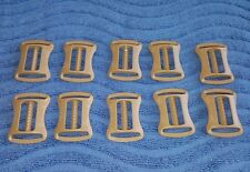 "(Set-10) US Military ITW NEXUS 1"" Tan STERNUM CROSS SLIDER BUCKLES, T-Buckles"