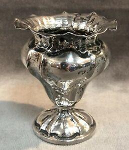 Antique Italian 800 Solid Silver Vase