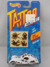 Vintage 1992 Hot Wheels Tattoo Machines #3479 White Spiderider Basic White Walls
