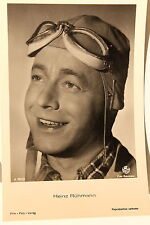 21519 Ross Film Foto AK 3525/1 Heinz Rühman mit Fliegerbrille um 1940 photo PC