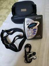 Sony Wm-Fx241 Walkman Portable Cassette Player Am/Fm Radio w/ Case