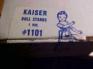 "1 doz SLIM WST Stands KAISER #1101 WHITE NEW 6""-8"" tall dolls DAWN MINI GINNY"