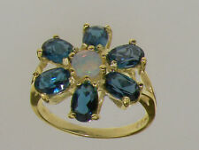 Cluster Natural Round Fine Gemstone Rings