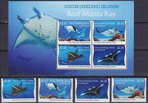 Australia, Cocos (Keeling) Islands 2021 Fauna, Marine Life, Reef Manta Ray MNH**
