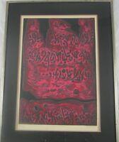 Vintage Original Signed Abstract Lithograph Israeli Artist Moshe Castel Listed