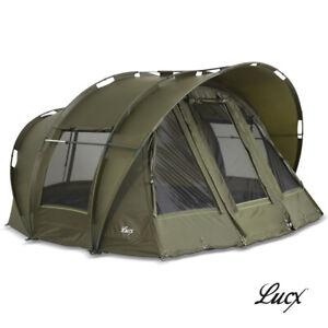 "Lucx® Karpfenzelt Bivvy 1, 2, 3 Mann Angelzelt Bivvy ""Leopard"" Carp Dome Camping"