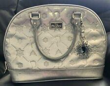💎 Loungefly Frozen Silver Handbag Purse w/ Elsa Snowflake Accessory Clasp D23