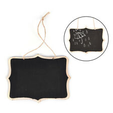 1X Mini Wooden Wedding Blackboard Chalkboard Hanging Message Number Party M&R