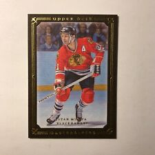 2008-09 UD Masterpieces Brown Stan Mikita