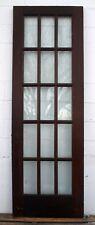 "29.5""x87""x1.75& #034; Antique Vintage Solid Wood Wooden French Door Window Wavy Glass"