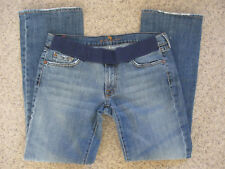 7 Seven For All Mankind Boot Cut Pull On Jeans Women's 31 Inseam 30