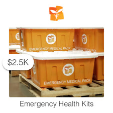 $2500 Charitable Donation For: Emergency Health Kits