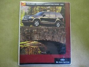 FORD EXPLORER PRODUCT AND MARKETING GUIDE 2001