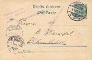 452855) DR GSK 5 Pf. Germania Bremerhaven 1901, L3 Empfänger..., zurück-L1