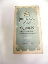 Vintage Antique Pictorial Map Of Quebec Travel Brochure (A3)