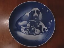 Bing & Grondahl Mothers Day 1969-1979 Anniversary Plate Dog & Puppies Denmark