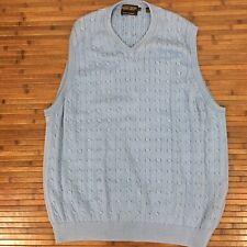 Men's Donald Trump Signature Collection Blue V-Neck Cotton Sweater Vest Size XL