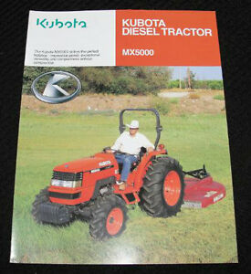 ORIGINAL 2005 KUBOTA MX5000 MX 5000 TRACTOR CATALOG BROCHURE VERY NICE