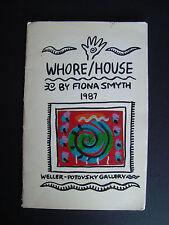 "Fiona Smyth  "" Whore/House ""  1987  underground comix postcards catalogue"