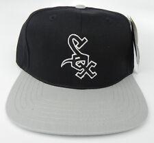 CHICAGO WHITE SOX MLB VINTAGE SNAPBACK RETRO 2-TONE CAP HAT NWT! BLK/GRY