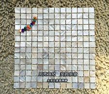 11Pcs kitchen backsplash tiles natural color shell mosaic square ceramic tile