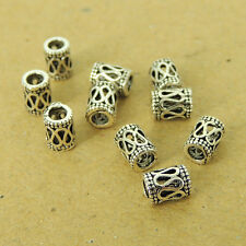 10 PCS 925 Sterling Silver Barrel Beads Vintage DIY Jewelry Making WSP549X10